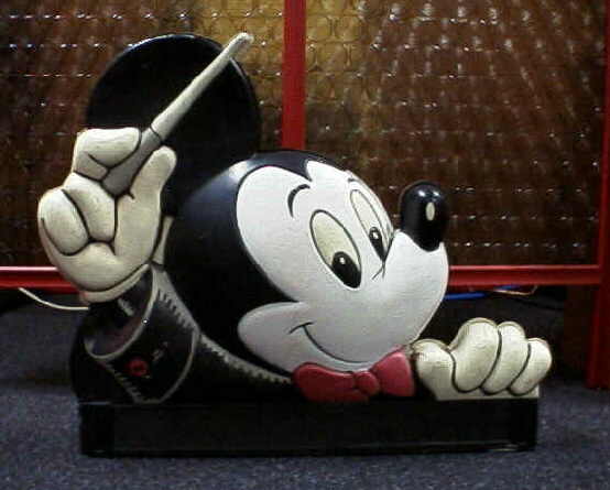 1960's Giant FANTASIA Disney Mickey Mouse Display