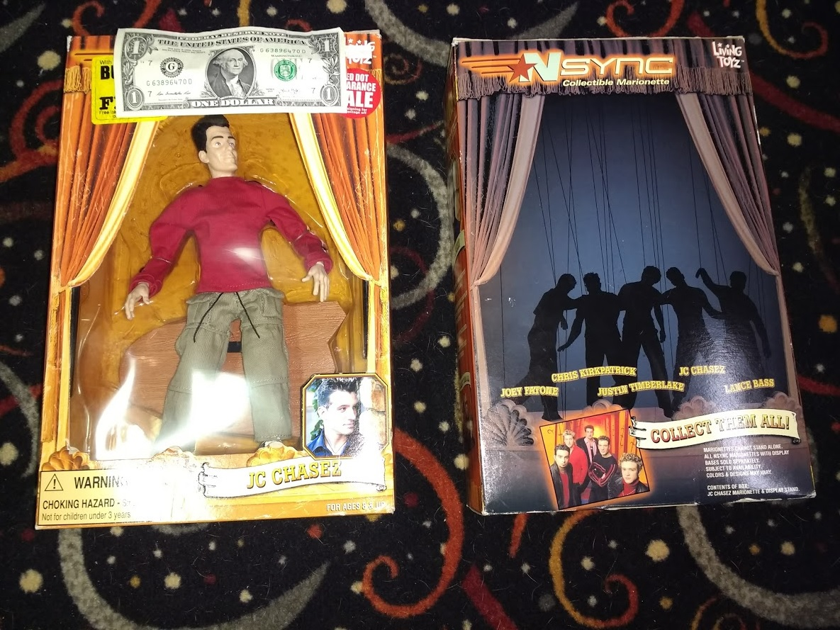 NSYNC Marionette JC Chasez Action Figure Doll - Lot of 2